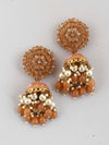 Brown Jessi Jhumki Earrings