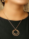 Rose Gold Couple Circle Necklace