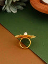 Golden Vishakha Adjustable Ring