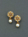 Golden Aarohi Jhumki Earrings