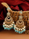 Turquoise Kavya Chaandbali Earrings