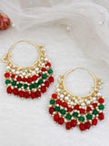 Ruby Ekdanta Gold Plated Temple Necklace Set with Earrings