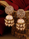 Golden Daliha Jhumki Earrings