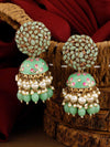 Mint Daliha Jhumki Earrings