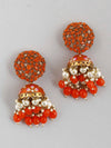Orange Daliha Jhumki Earrings