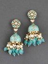 Turquoise Sarika Jhumki Earrings
