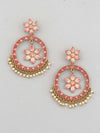 Coral Marcy Chaandbali Earrings