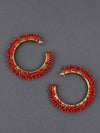 Red Ira Hoop Earrings