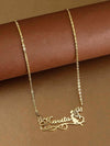 Golden Angel Name Necklace