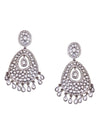 Antique Silver Astra Drop Designer Earrings
