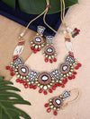 Antique Pink Gulzar Zulree Choker Necklace Set