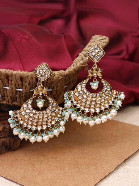 Red Rajkumari Earrings