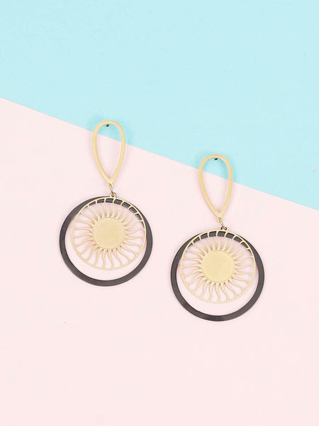 Golden Porter Dangler Earrings