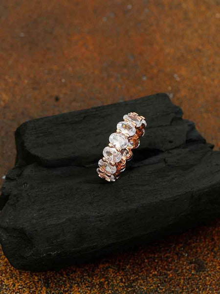 Rose Gold Bhavy Zirconia Ring