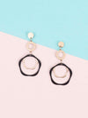 Black Huck Dangler Earrings