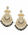 Black Rajshri Designer Earrings