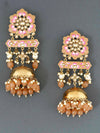 Brown Fulwari Jhumki Earrings