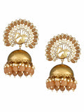 Brown Mayu Jhumki Earrings