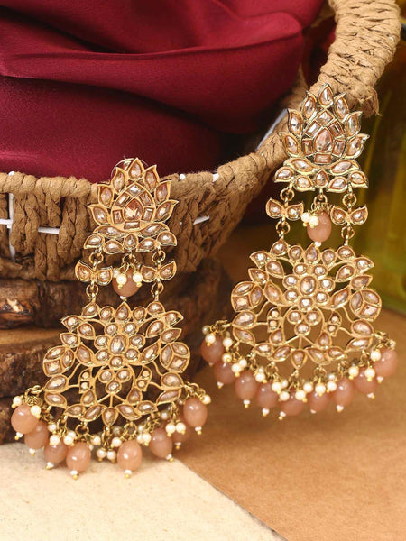 Brown Leela Designer Earrings