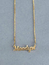 Golden Butterfly Name Necklace