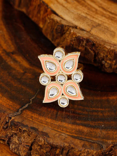 Coral Yug Adjustable Ring