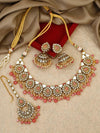 Coral Jinisha Necklace Set