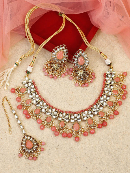 Coral Damru Designer Earrings