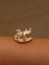 Golden Couple Adjustable Name Ring