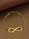 Golden Couple Infinity Adjustable Name Bracelet