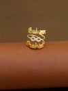 Golden Couple Infinity Adjustable Name Ring