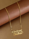 Golden Couple Heart Name Necklace