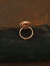 Rose Gold Devika Adjustable Zirconia Ring
