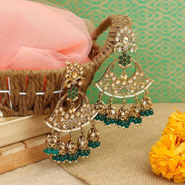 Emerald Bella Jhumki Earrings