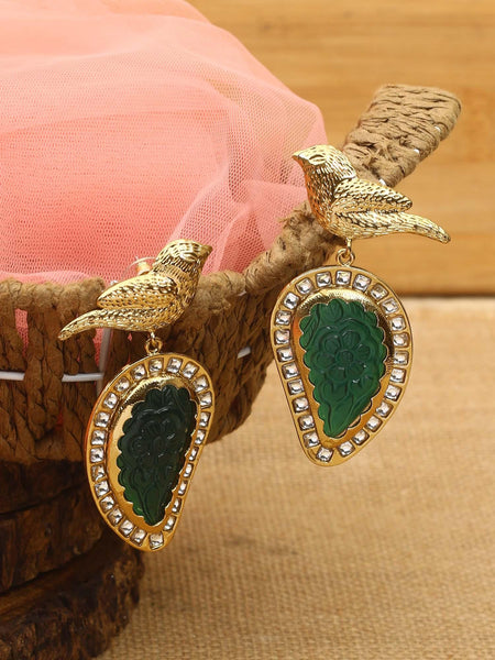 Emerald Jhula Designer Earrings