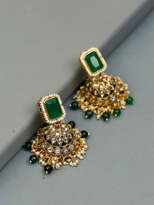 Emerald Jivantika Designer Earrings