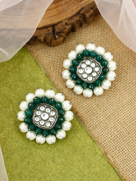 Emerald Havisha Ethnic Earrings