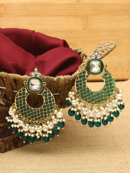 Red Keladi Designer Earrings