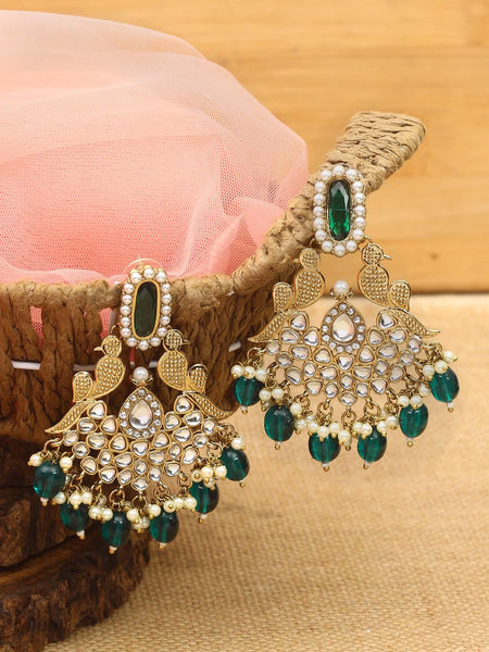 Emerald Maina Designer Earrings