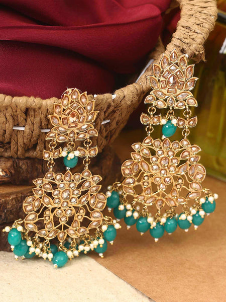 Green Anokhi Oxidised Designer Earrings