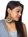 Emerald Samsaptaka Designer Earrings