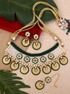 Emerald Skanda Zulree Choker Necklace Set