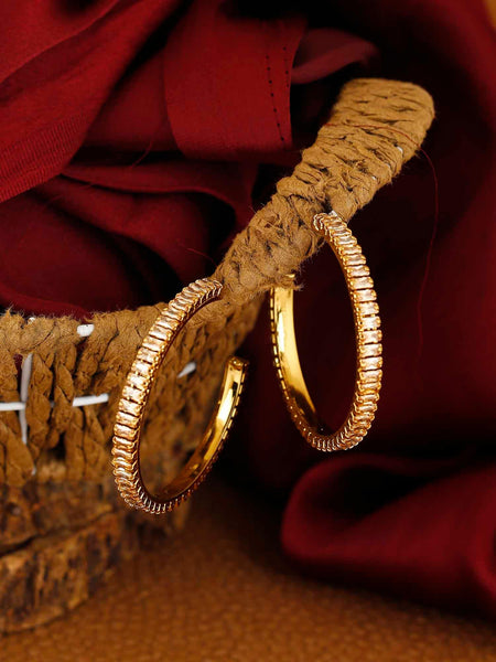 Golden Anjum Designer Hoop Earrings