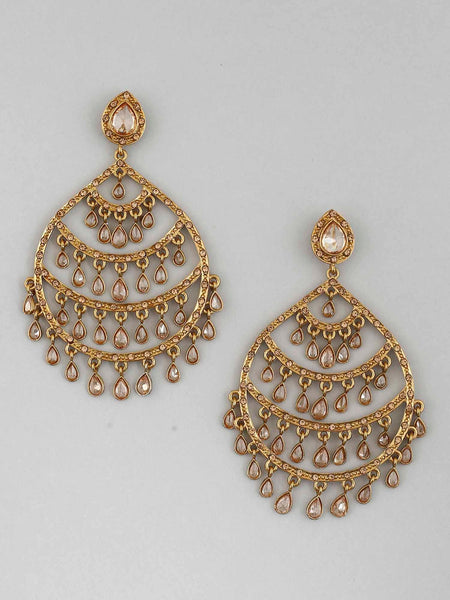Golden Harwant Designer Earrings