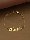 Golden Paw Adjustable Name Bracelet