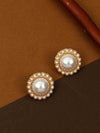 Golden Renita Stud Earrings