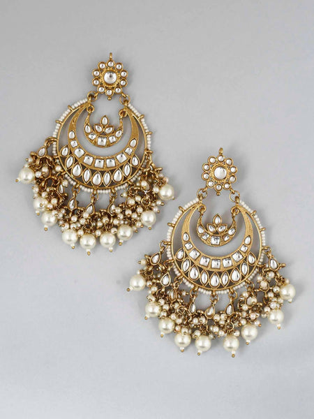 Golden Stuti Dangler Earings