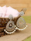 Golden Astra Pearl Designer Earrings