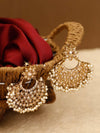 Golden Barkha Designer Earrings