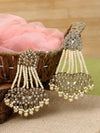 Golden Jhulan Designer Earrings