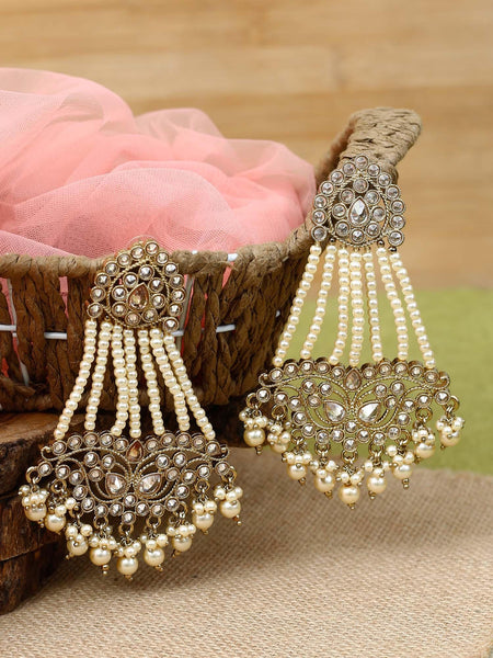 Crepe Jhula Designer Earrings